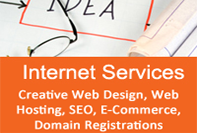 We provide a full range of internet services, and consultancy, including website design and re-designs, complete online shop creation and management as well as domain name registration, web site hosting and email solutions.